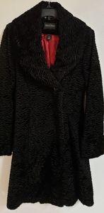 White House Black Market Persian Fur Coat Jacket